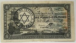 South Africa 1938 . 1 Pound . Collector's Specimen Banknote Rare . Nice Grade