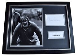 Fran Cotton Signed Framed Photo Autograph 16x12 Display England Rugby Coa