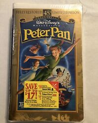 Peter Pan Vhs, 1998, 45th Anniversary Limited Edition Brand New Sealed