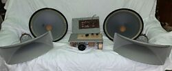 Exc Vintage Kinap Lomo Speakers 25gdn-4 Krossovers Drivers With Horns 1a20
