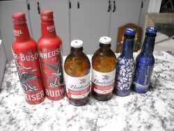 Budweiser Aluminum Bud Reserve Bottles Bud Light Beer Wrapped Collectible Empty