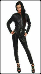 Genuine Leather Catsuit Front Zipper Tight Fit Sexy Kink Women Jumpsuit Women