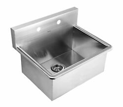 Noahand039s Collection Brushed Stainless Steel Commercial Drop-in Or Wall Mount Ut...