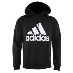 Adidas Must Haves Badge Of Sport Pullover Hoodie Training Top Black Dq1461