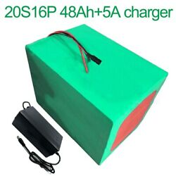 With 5a Charger 72v 42ah 20s16p Li-ion Battery Electric Motorcycle Bicycle Ebike