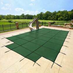 Yard Guard 18 X 36 + 8and039 Center End Steps Pool Safety Cover Green 2 Pack