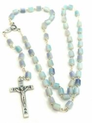 Murano Style Glass Italian Rosary Beads - Made In Italy - Stamped Italy