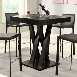 Fast Furnishings Modern 40-inch High Square Dining Table In Dark Cappuccino F...