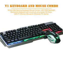 Multi-colored Gaming Backligh Keyboard And Led Changing Dpi 3200 Mouse For Pc
