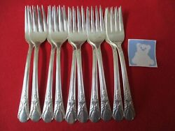 10 Rogers Is Silverplate Salad Forks 1940 Avalon 19