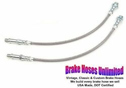 Front Stainless Brake Hoses Dodge Challenger 1970 1971 1972 1973 - Front Disc