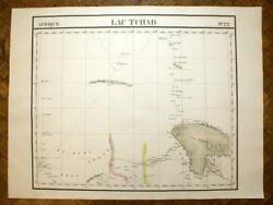 The Lake Chad Map Geographic African No No 22 Vandermaelen Old Antique Map 1827