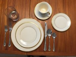 Lenox Eternal 12 - 5 Piece Place Setting And Individual Serving Pieces