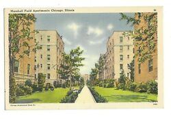 Vintage Postcard Chicago Il Marshall Field Apartments Old Town 1940
