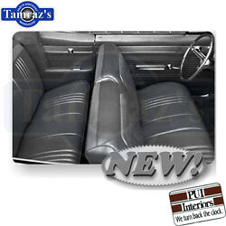 1965 Pontiac Catalina Front And Rear Seat Covers Upholstery Black New Pui