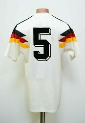 Germany 1990/1992 Home Football Shirt 5 Adidas Size M Adult Match Worn Issue