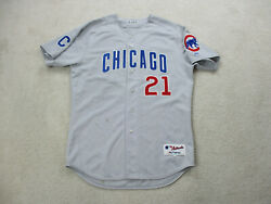 Majestic Sammy Sosa Chicago Cubs Baseball Jersey Road Gray Game Used Issued Worn