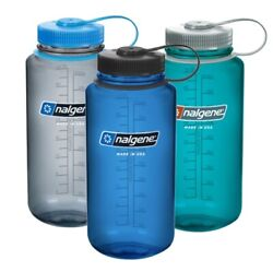 Nalgene Wide Mouth Water Bottle Bpa And Bps Free 1l / 32oz Made In Usa New Colours