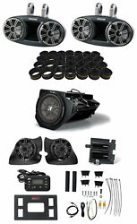 Kicker Phase 3 Polaris Rzr Speakers+towers+subwoofer+amps+receiver+install Kits