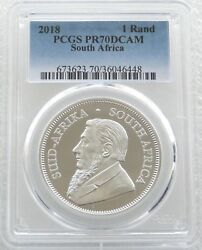 2018 South Africa Krugerrand Silver Proof 1oz Coin Pcgs Pr70 Dcam - Issue 15000