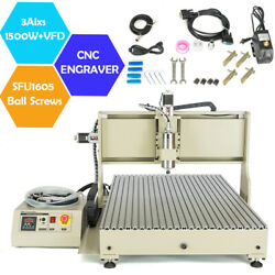 Cnc 6090 3/4axis Router Engraver 1.5/2.2kw Vfd Wood Metal Engraving Mill Machine