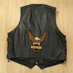 PRO FORCE leather vest size 54 Suzuki patches motorcycle biker gang