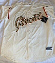 Authentic Majestic San Francisco Giants Buster Posey Mlb Jersey Sz Xl Cool Base