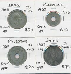 Middle East 1935-1955 4 Coin Collection Scarce