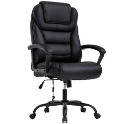 Big Tall Office Chair 500lbs Wide Seat Ergonomic Desk W/lumbar Support Arms