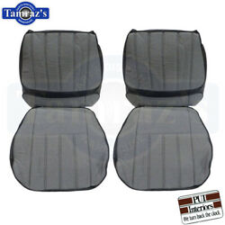 1970 Camaro Deluxe Cloth Front And Rear Seat Upholstery Covers Black Pui