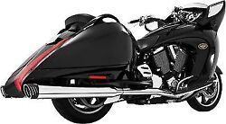 Freedom Racing Dual Exhaust-chrome For Victory Cross Country/roads 10-14 Mv00016