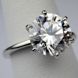 Tiffany & Co. 4.49 ct Diamond Platinum Engagement Ring GIA F  VS2 Size 5 #A5903