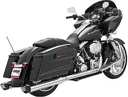 Freedom Racing Dual Exhaust System-blk/chrome Harley Davidson 1995-2014 Hd00235