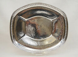 Hammered Sterling Silver Large Reticulated Bread Tray Wilcox And Wagner 9.52ozt