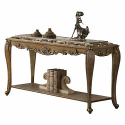 Acme Furniture Orianne - Sofa Table Mirrored And Antique Gold