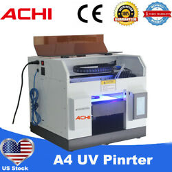 Achi A4 Uv Printer 6color Epson L800 Head For Phone Case Metal Glass 3d Embossed