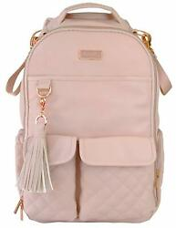 Itzy Ritzy Boss Baby Diaper Bag Backpack Changing Pad Blush Crush NEW $159.99
