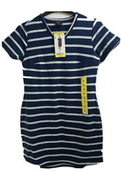 32 Degrees Cool - Pull Over Jersey Long T-shirt Dress White/marine -size S