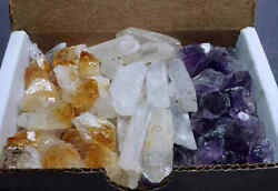 Amethyst amp; Citrine Points Collection 1 2 Lb Lots Extra Small Natural Crystals $14.95