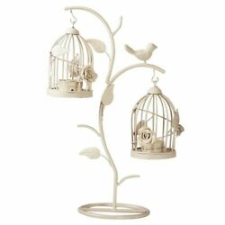Retro Branch Bird Cage Candlestick Candle Holders Crafts Wedding Home Decoration