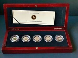 Canada 🇨🇦 2012 Fine Silver 5 Coin Set - Farewell To The Penny - Mintage 5000