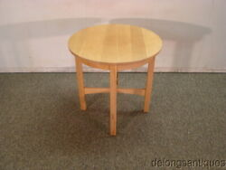 60403stickley Mission Oak Arts And Crafts Round Lamp Table