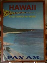 1950s Pan Am Poster - Hawaii By Jet Clipper In 5 Hours'