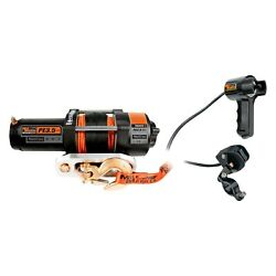 Electric Winch Atv/utv Waterproof 3500 Lbs Electric Winch W Synthetic Rope And