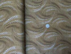 Archive Fabric Wheat On Brown Oop Quilt Shop Quality Lecien
