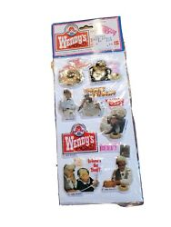 Vintage Wendy's 1984 Where's The Beef Puffy Stickers Mip 5