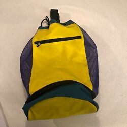 Koozie Insulated Beach Bag Cooler Yellow Purple And Green Colors $20.00