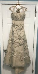 New 4,000 Bhldn Trumpeted Pavot Embroidered Vintage Wedding Gown Dress Size 2