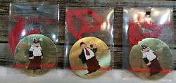 Vintage Wimpy And Brutus Popeye Christmas Ornaments King Feature Syndicate 3 Pcs.