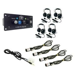 Pci Race Radios Dsp + Bluetooth Supreme Radio Package 4 Headset/helmet Cables